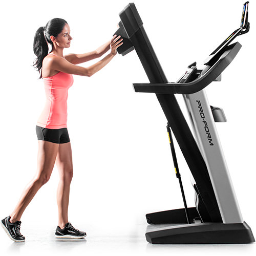 proform pro 5000 treadmill folded