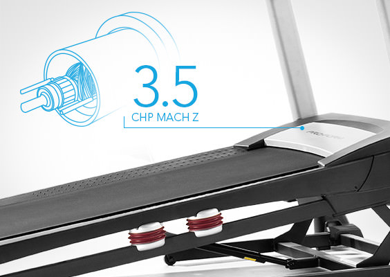 proform 1295i treadmill review - motor